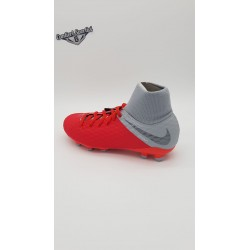 JR HYPERVENOM PHANTOM 3 ACADEMY DF FG Lt Crimson/Mtlc Dark Grey