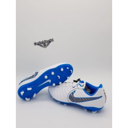 JR LEGEND 7 ACADEMY FG White/Mtlc Cool Grey-Blue Hero