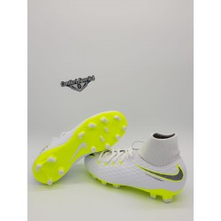 JR PHANTOM 3 ACADEMY DF FG White/Mtlc Cool Grey- Volt-Mtlc