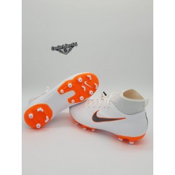 JR SUPERFLY 6 ACADEMY GS MG White/Mtlc Cool Grey-Total Orange