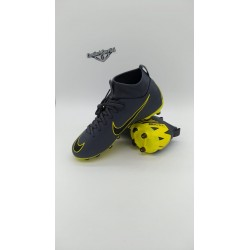NIKE JR SUPERFLY 6 ACADEMY GS FG/MG DARK GREY/BLACK-DARK GREY