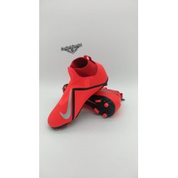 JR PHANTOM VSN ACADEMY DF FG Bright Crimson/Gym Red/Nero/Metallic Silver