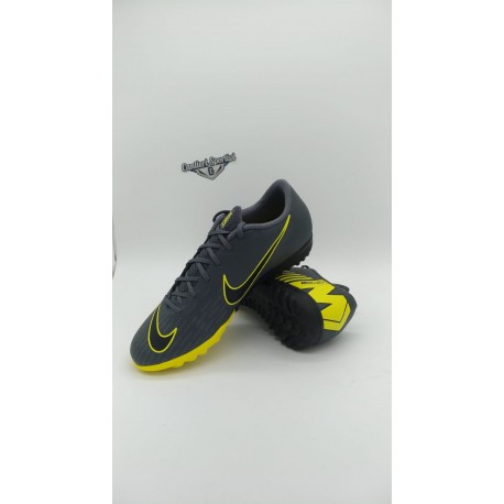 VAPORX 12 ACADEMY TF Dark Grey/Opti Yellow/Nero