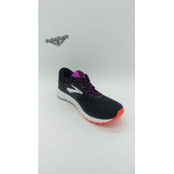 BROOKS GLYCERIN 17 BLACK/ FIERY CORAL/ PURPLE