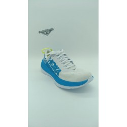 HOKA CARBON X  White/Dresden Blue