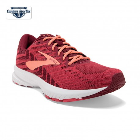 BROOKS LAUNCH 6 W  Rumba Red/Teaberry/Coral